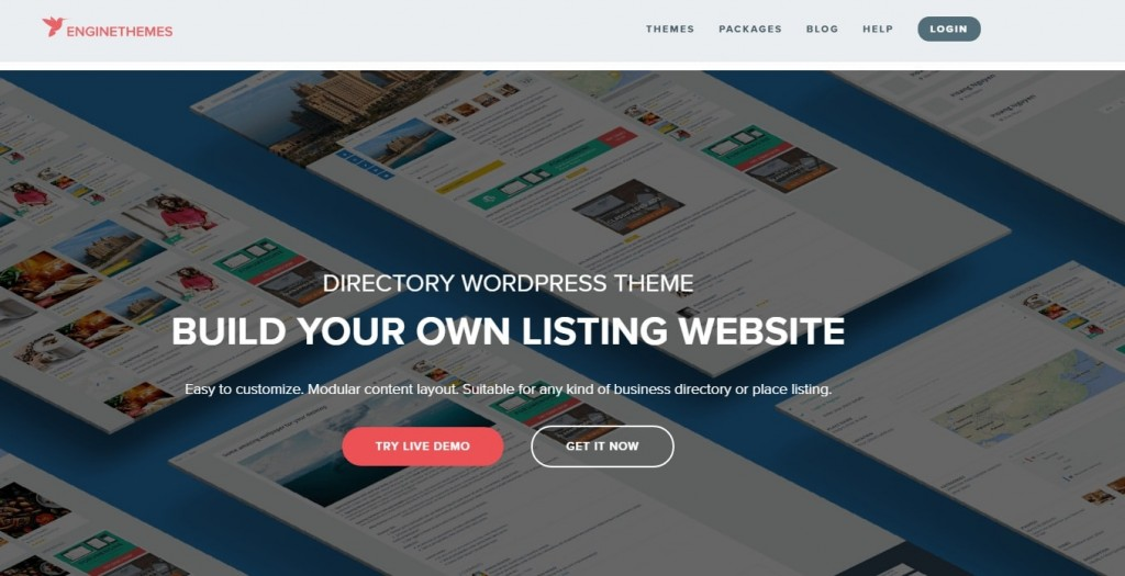 Directory wordpress theme from engine themes