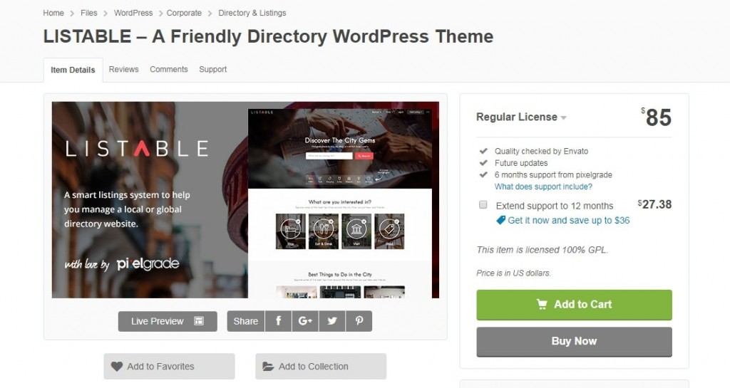 Listable - Best wordpress directory theme